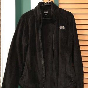 Black The North Face Plush Zip-Up Jacket